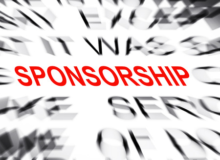 sponsorship: Blured text with focus on SPONSORSHIP Stock Photo
