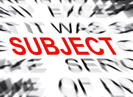 soumis: texte Blured en mettant l'accent sur le sujet Banque d'images