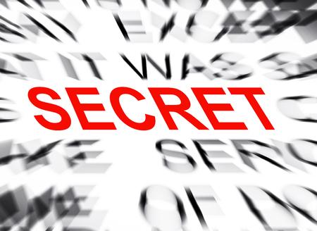 define: Blured text with focus on SECRET