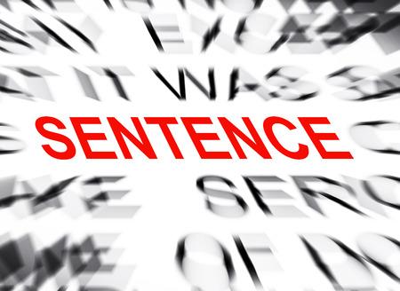 sentencia: Texto Blured con el foco en FRASE