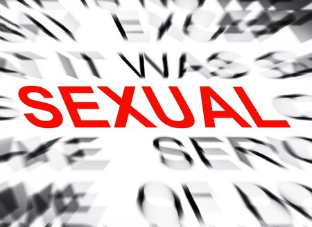 sexual: Blured text with focus on SEXUAL