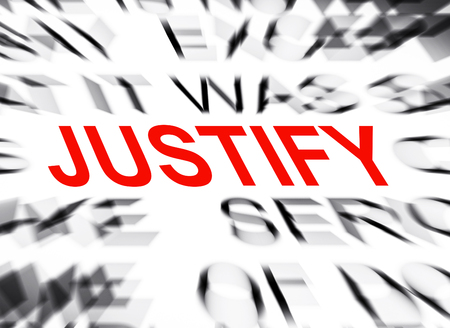 justify: Blured text with focus on JUSTIFY