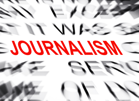journalism: Blured text with focus on JOURNALISM