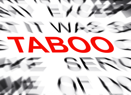 taboo: Blured text with focus on TABOO