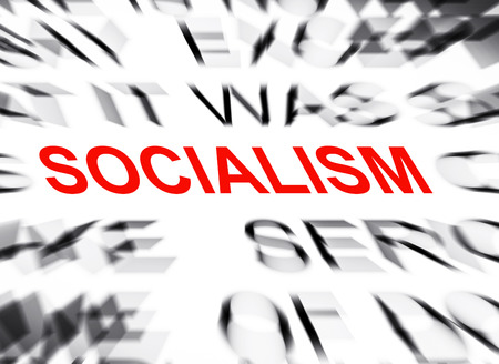 socialism: Blured text with focus on SOCIALISM Stock Photo