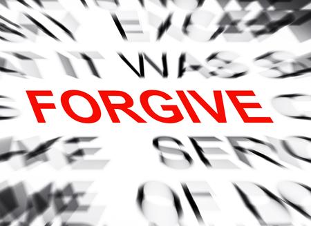 perdonar: borroneada texto con el foco en PERDONAR
