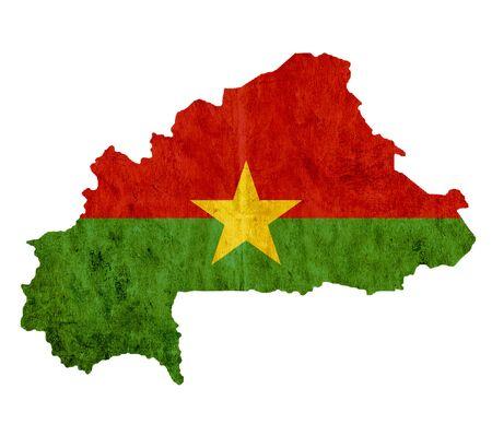 burkina faso: Vintage paper map of Burkina Faso