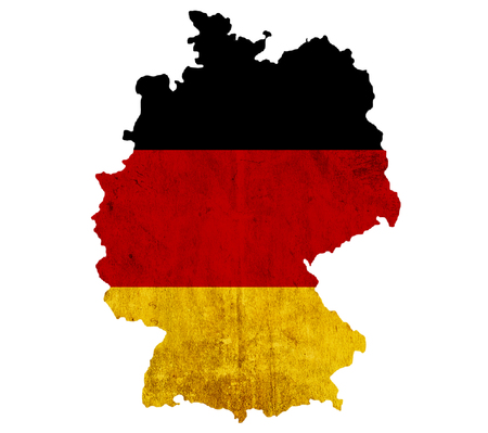 Vintage mapy papieru Niemcy