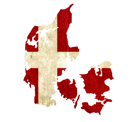 graphical chart: Vintage paper map of Denmark