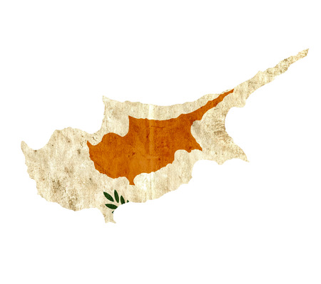 graphical chart: Vintage paper map of Cyprus
