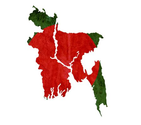 graphical chart: Vintage paper map of Bangladesh
