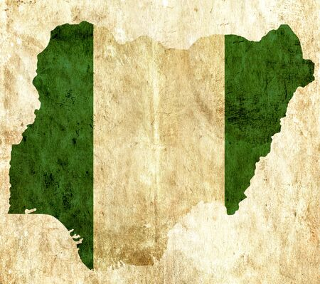 graphical chart: Vintage paper map of Nigeria
