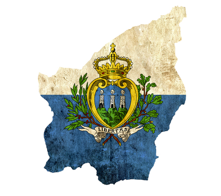 san marino: Vintage paper map of San Marino Stock Photo