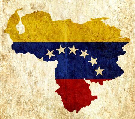 mapa de venezuela: mapa de papel de la vendimia de Venezuela