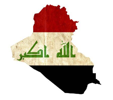 iraq: Vintage paper map of Iraq