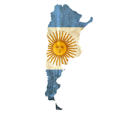 graphical chart: Vintage paper map of Argentina Stock Photo