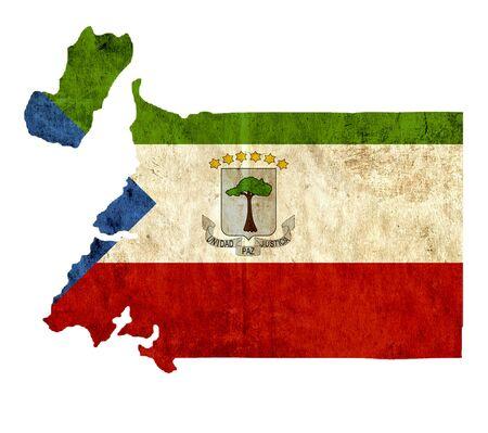 equatorial: Vintage paper map of Equatorial Guinea