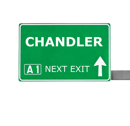 chandler: CHANDLER road sign isolated on white Stock Photo