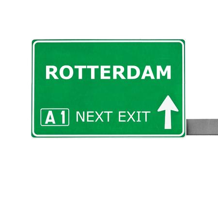 rotterdam: ROTTERDAM isolated on white Stock Photo