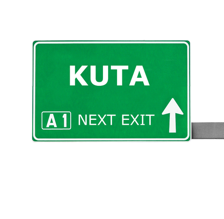 chill out: KUTA road sign isolated on white Stock Photo