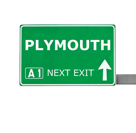 plymouth: PLYMOUTH road sign isolated on white
