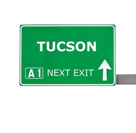 tucson: TUCSON road sign isolated on white Stock Photo
