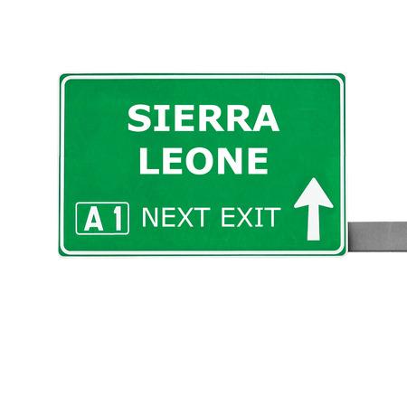 sierra leone: SIERRA LEONE road sign isolated on white