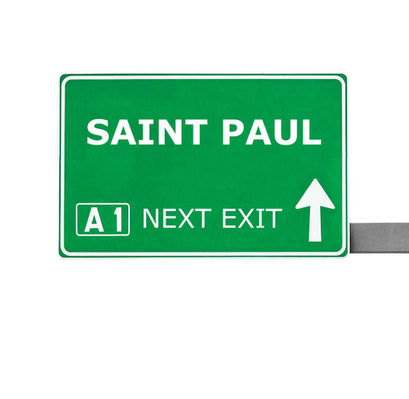 paul: SAINT PAUL road sign isolated on white