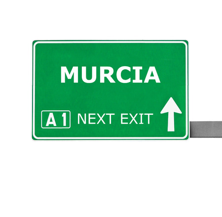murcia: MURCIA road sign isolated on white Stock Photo