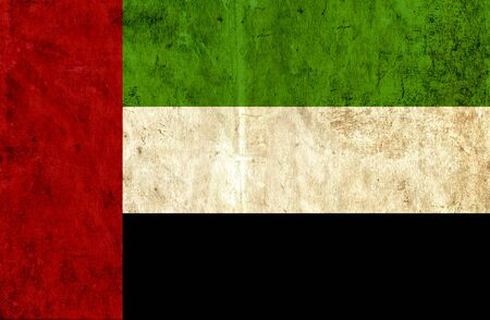 run down: Grungy paper flag of United Arab Emirates Stock Photo