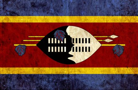 run down: Grungy paper flag of Swaziland