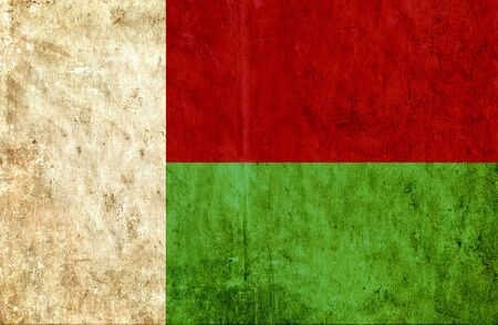 grungy: Grungy paper flag of Madagascar Stock Photo