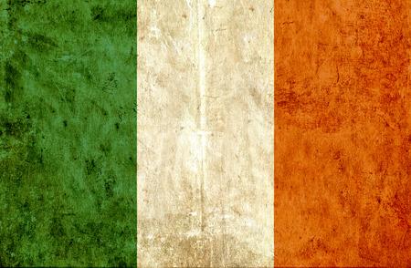 ireland flag: Grungy paper flag of Ireland