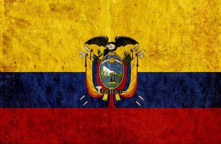 grungy: Grungy paper flag of Ecuador