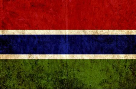 run down: Grungy paper flag of Gambia