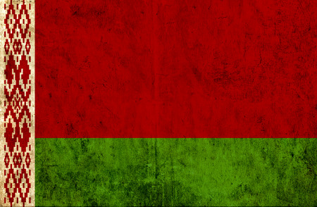 belarus: Grungy paper flag of Belarus