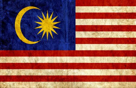 grungy: Grungy paper flag of Malaysia Stock Photo