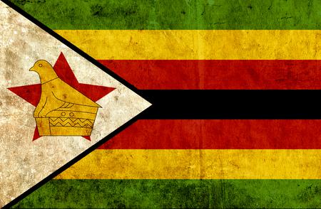 grungy: Grungy paper flag of Zimbabwe