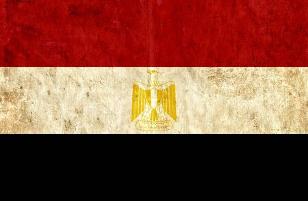 run down: Grungy paper flag of Egypt