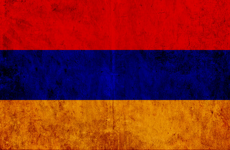 run down: Grungy paper flag of Armenia