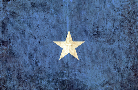 run down: Grungy paper flag of Somalia
