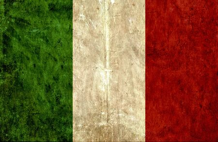 grungy: Grungy paper flag of Italy Stock Photo