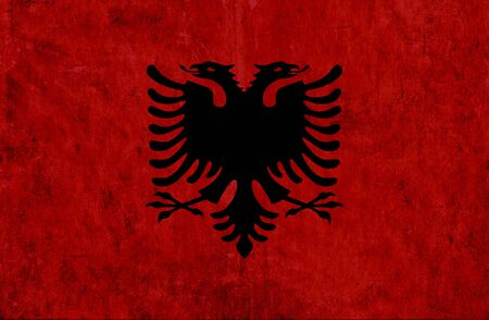grungy: Grungy paper flag of Albania