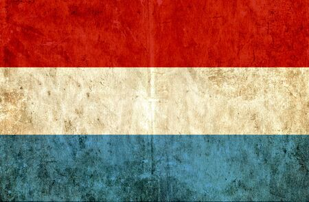 run down: Grungy paper flag of Luxembourg