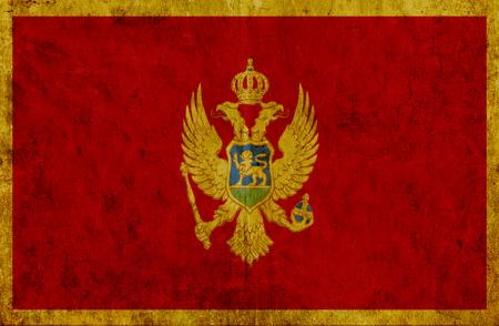 montenegro: Grungy paper flag of Montenegro Stock Photo