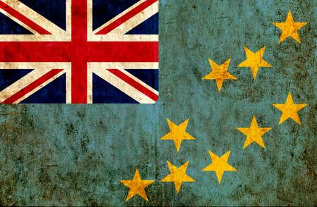 tuvalu: Grungy paper flag of Tuvalu