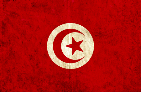 grungy: Grungy paper flag of Tunisia Stock Photo