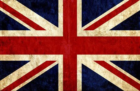 grunge union jack: Grungy paper flag of Great Britain Stock Photo