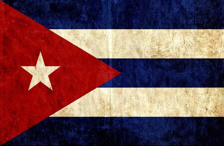 run down: Grungy paper flag of Cuba
