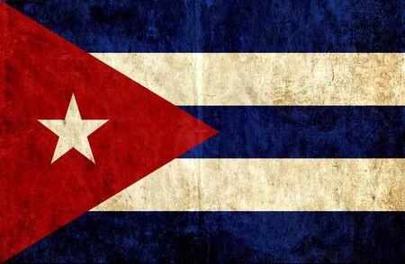 flag of cuba: Grungy paper flag of Cuba